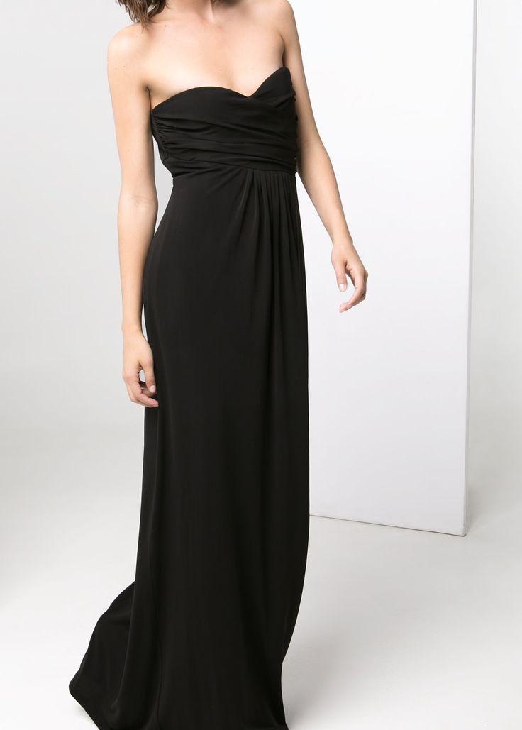 Длинное платье с драпировкой