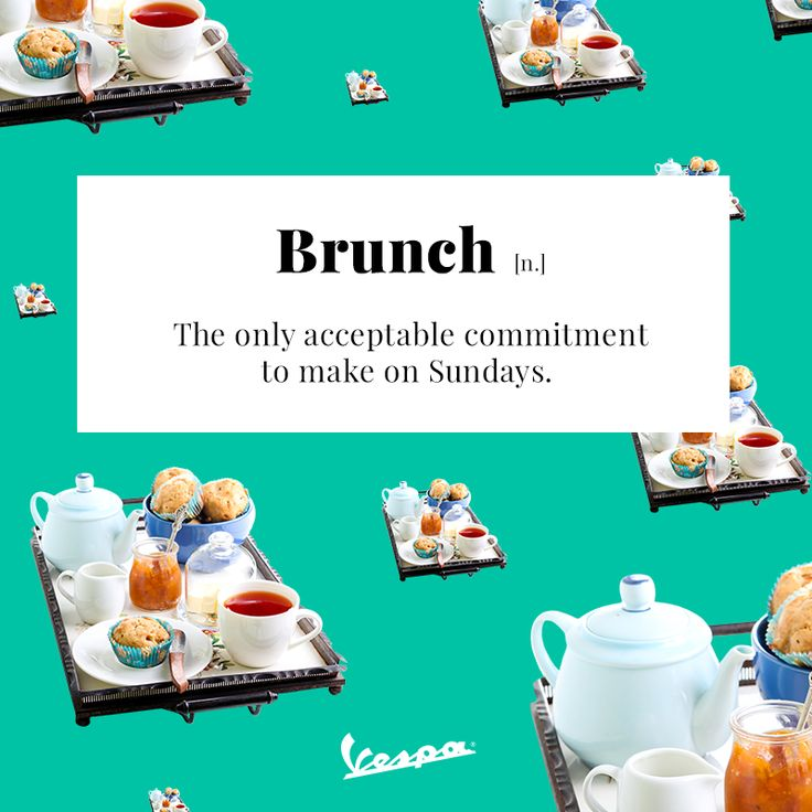 Some things are just worth getting out of bed for. | #Vespa #brunch #VespaDictionary
