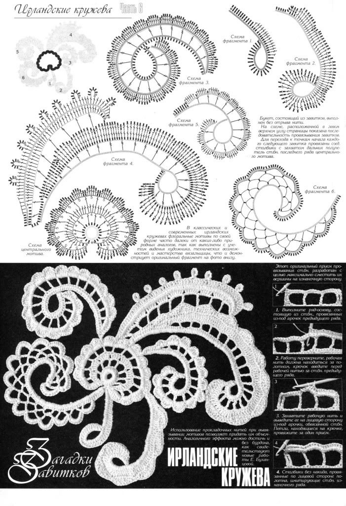 Floral Crochet Patterns Book Top Skirt Dress Cardigan Irish Lace Spec Duplet 6 in Crafts, Needlecrafts & Yarn, Crocheting & Knitting