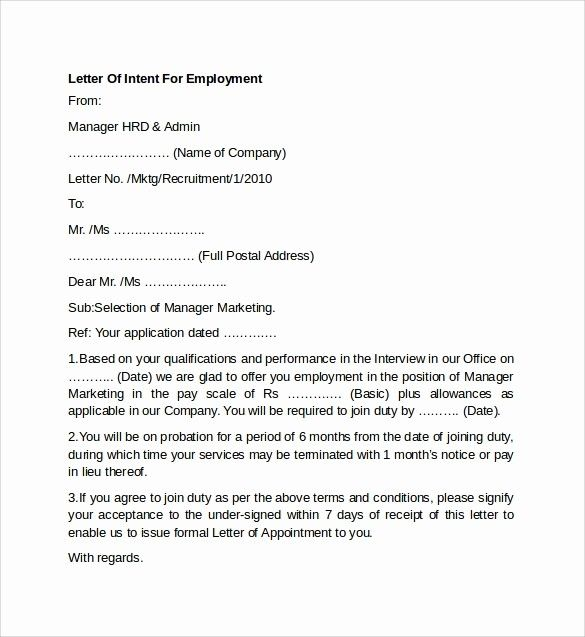 Intent Letter For Job Awesome 8 Letter Of Intent For Employment Templates To Download Letter Of Intent Lettering Printable Letter Templates