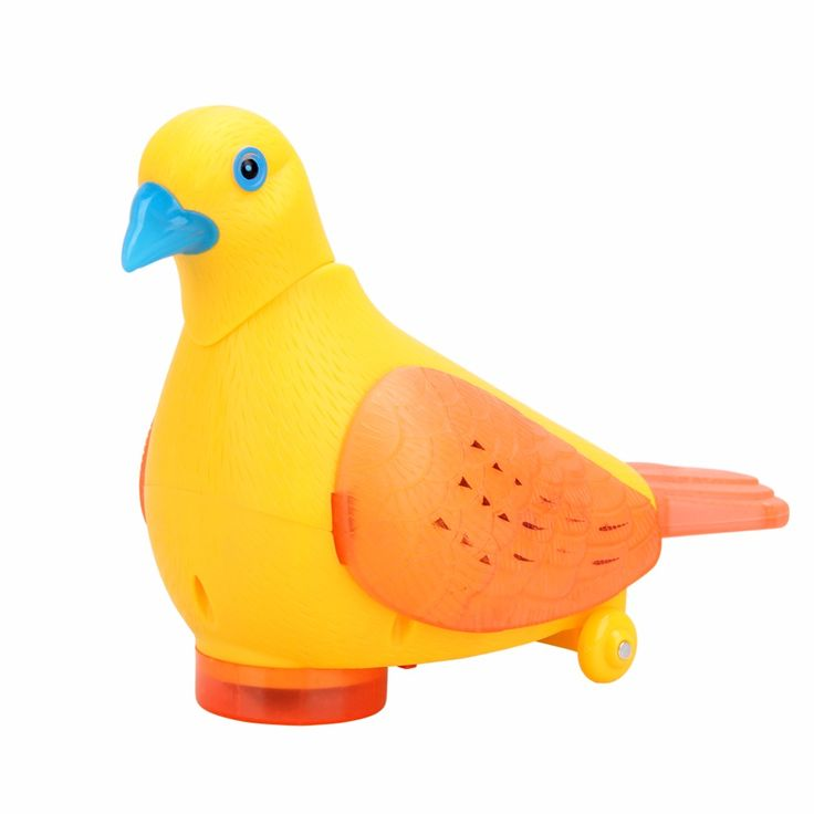 Electric Pigeon Toy with Colorful Flashing LED Light Fun Musical Moving Automatic Changing Direction Lighting Toy