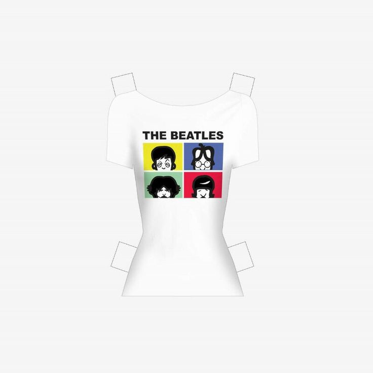 """October 5th. In the 1962 The Beatles first single """"Loves me do"""" is released in the United Kingdom.  Download the anniversary t-shirt designed by Simona from the website www.lolapaperdoll.it"""