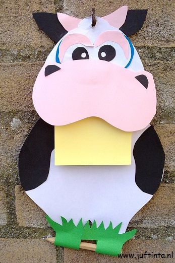 post it cow crafts