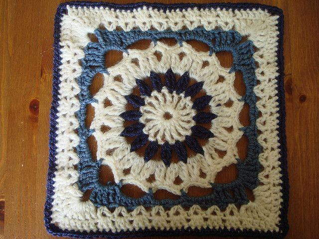 drop in the bucket  square - free crochet pattern