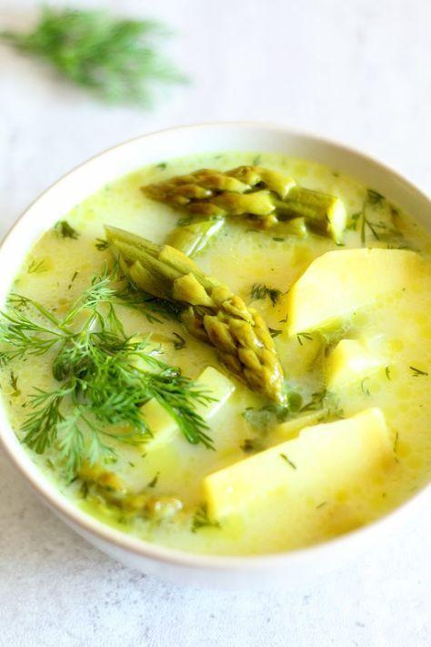 Zupa z ziemniakami, szparagami i koperkiem. #thermomix #thermoprzepisy #zupy #szparagi