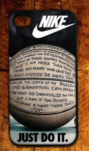 Amazon.com: Custom RUBBER Nike Logo Quote Basketball case cover for iphone 5: Cell Phones & Accessories