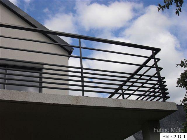 Fabricant garde-corps acier pour l'extérieur, en Bretagne, vannes.