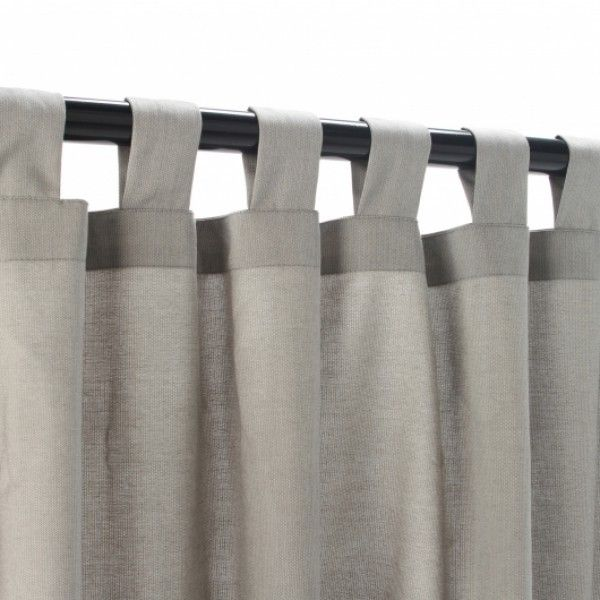 Light Dove Grey Outdoor Tab Top Curtain Panel Love The Color Patio Curtainore Sunbrella Curtains