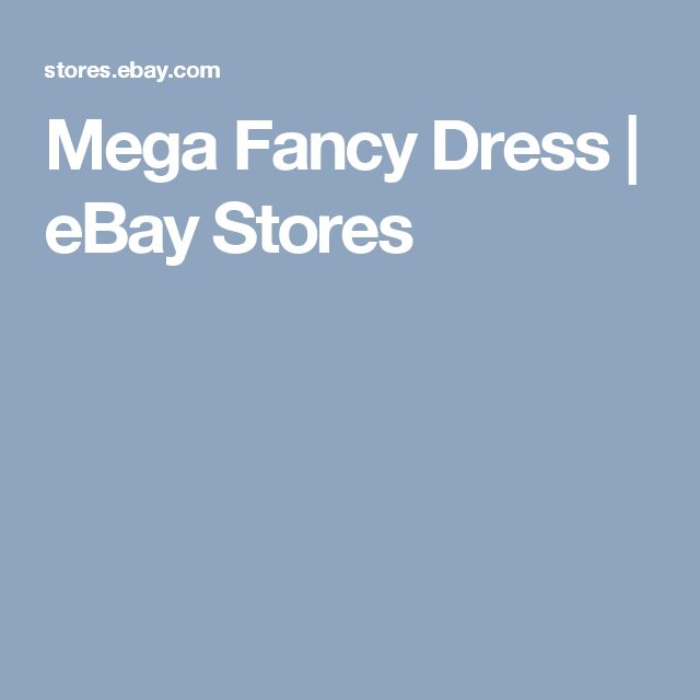 Mega Fancy Dress | eBay Stores