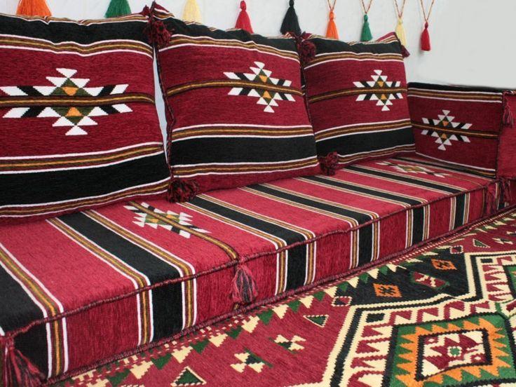 Orientalische Sitzecke Sitzkissen Sitzgruppe 5 Teilig Komplett Gefllt Bordeaux Amazonde