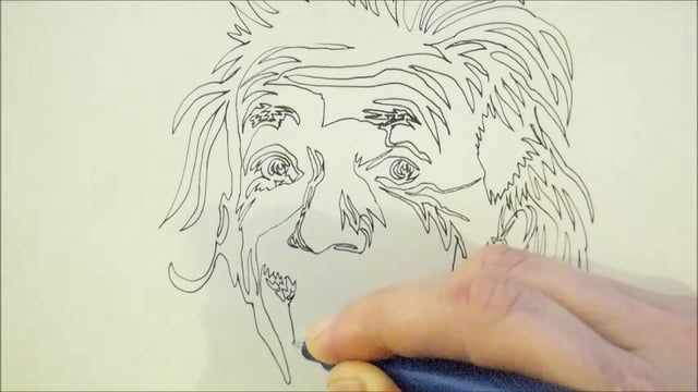 "Portrait drawing created with a single continuous line.  ""A.Einstein"", 2015  Check out  more of my art and follow me!  WEBSITE-  http://www.athanasia.me FACEBOOK -  https://www.facebook.com/athanasia.me TWITTER -   https://twitter.com/Athanasiart BEHANCE-      https://www.behance.net/athanasiak  Music: https://www.youtube.com/audiolibrary/music    Thanks for watching!"