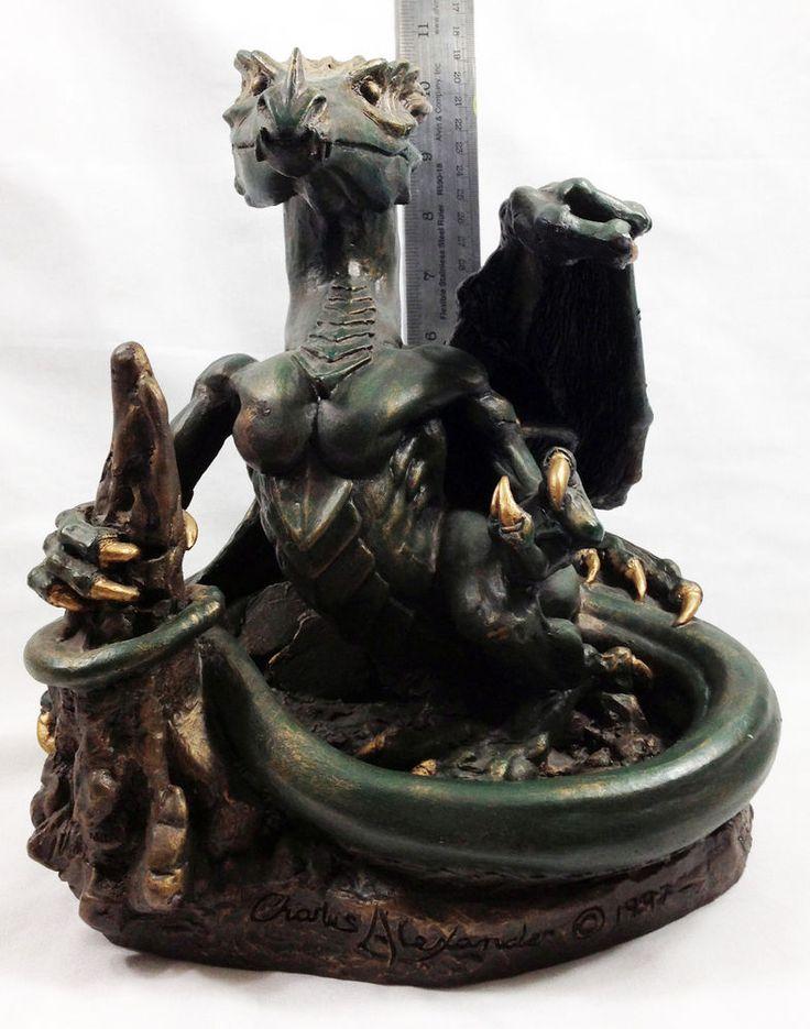 Mythical Dragon Sculpture Statue Figure Handmade Original Western Dragon