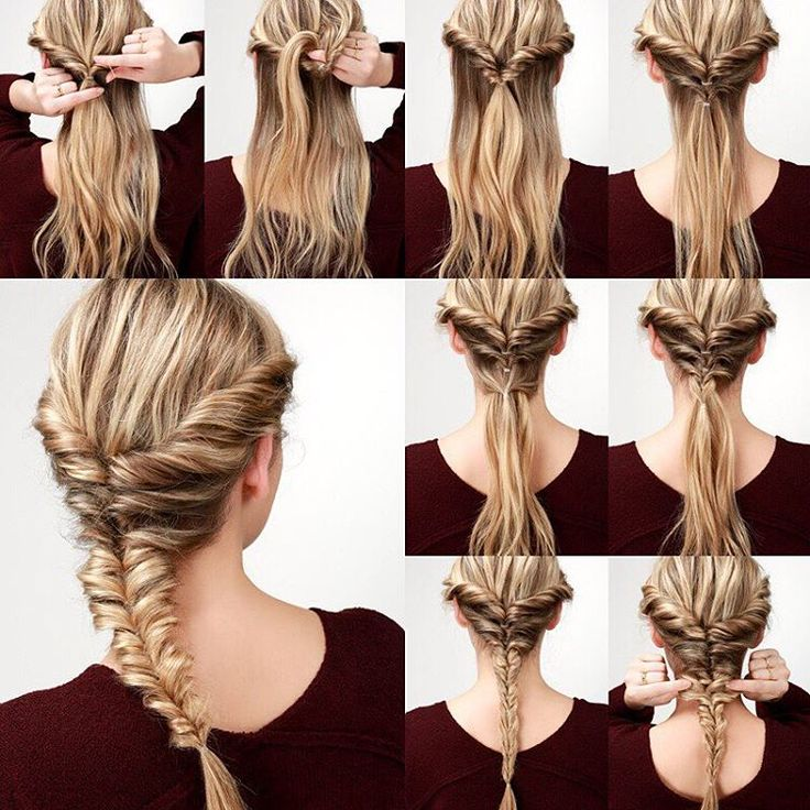 Easy and Fabulous Step-By-Step Hair Tutorials To Try - -Topsy Fishtail Braid