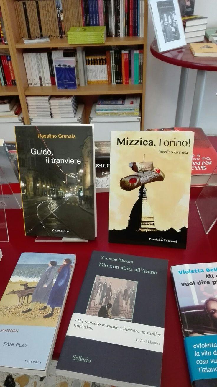 """Presso la libreria """"Il gatto che pesca"""", via dei Martiri della Libertà, 42, San Mauro Torinese, troverete i miei due romanzi: """"Guido, il tranviere"""" e """"Mizzica, Torino!"""", cosa aspettate? Correte!"""
