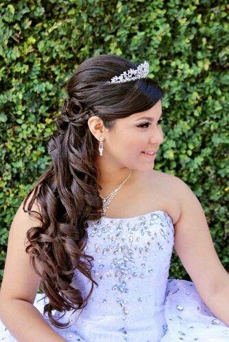 Resultado de imagen para sweet 16 hairstyles with tiaras