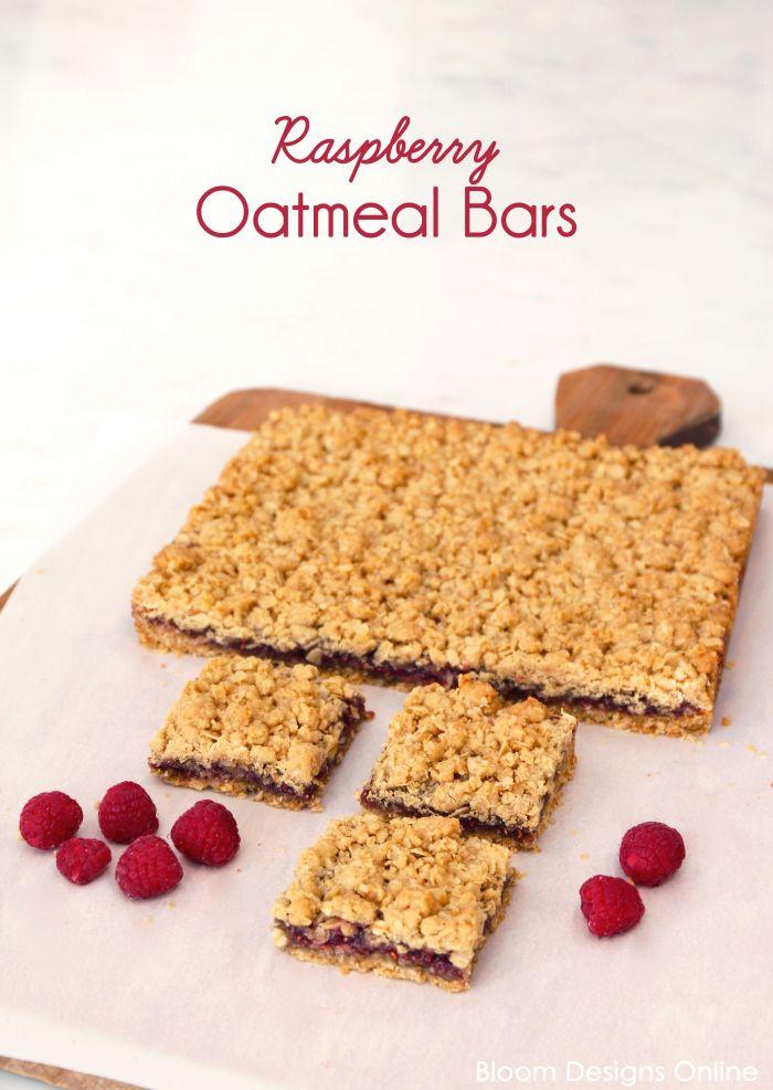 Raspberry Oatmeal Bars | Oatmeal bars, Bar and Oatmeal