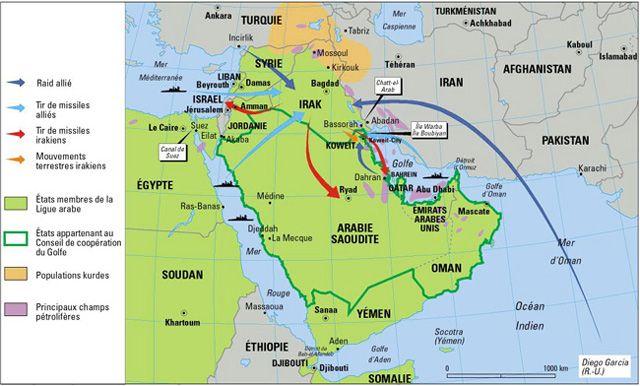 La guerre du Golfe (17 janvier-3 mars 1991), par Philippe Rekacewicz (Le Monde diplomatique, avril 1991)
