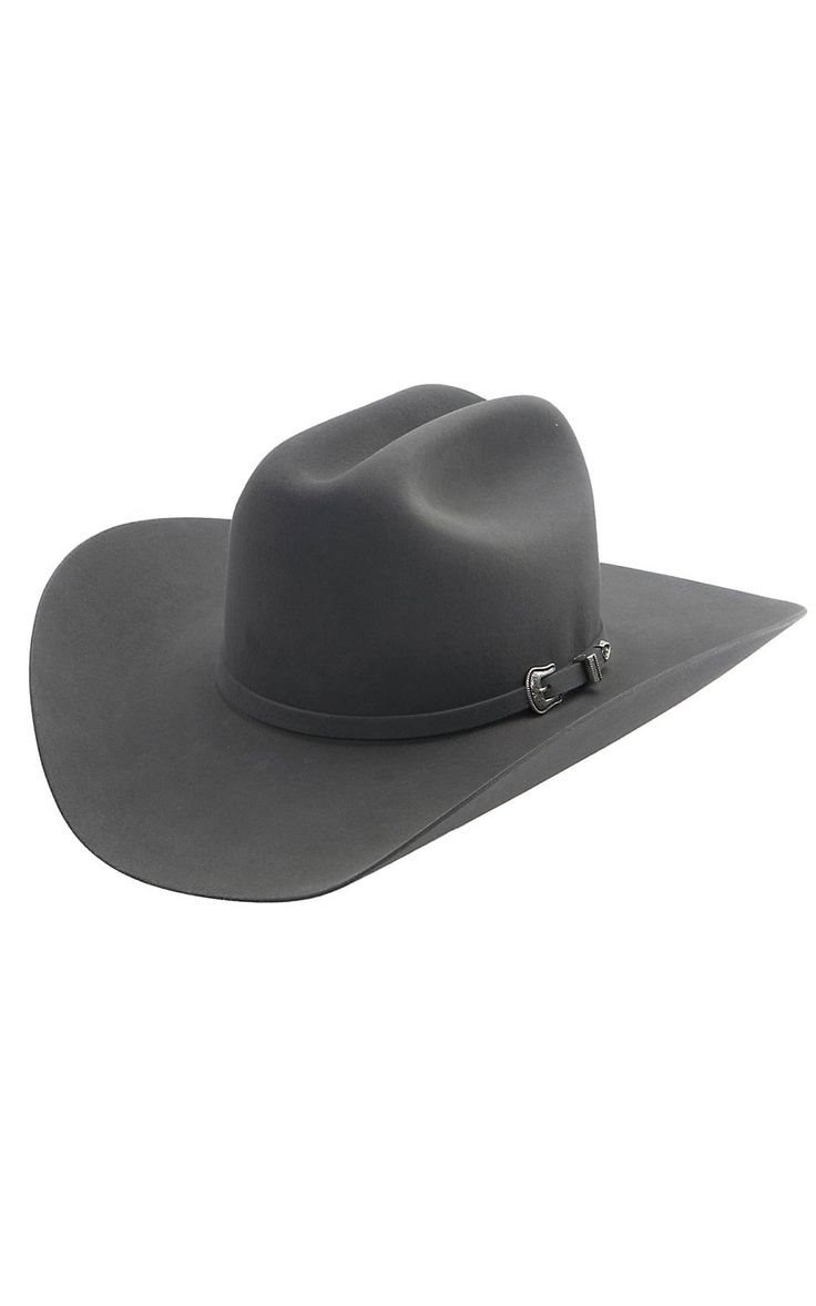 Resistol 5X The Challenger Granite Grey Cattlemen Felt Cowboy Hat