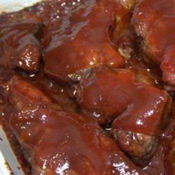 Tangy BBQ Ribs: Dinners Tonight, Bbq Ribs, Mesh Halloween, Ribs Allrecipescom, Tangi Bbq, Food And Drinks, Halloween Wreaths, Allrecipes Com, Deco Mesh