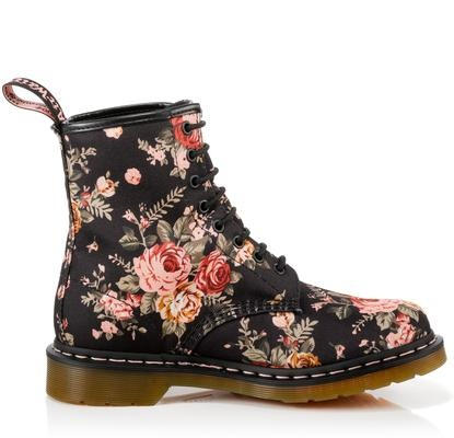 floral doc martens shoes and accessories pinterest. Black Bedroom Furniture Sets. Home Design Ideas