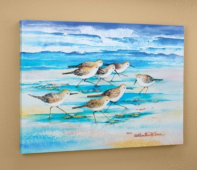 Sandpipers Wall Canvas