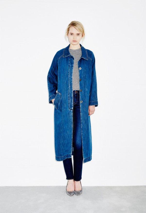 M.i.h Raglan Denim Coat - Stone Blue