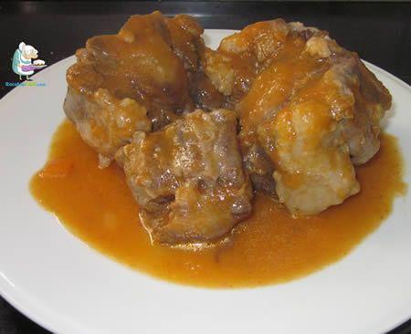 Receta casera de rabo de toro estofado #recetasdecomidaespañola #comidaespañola