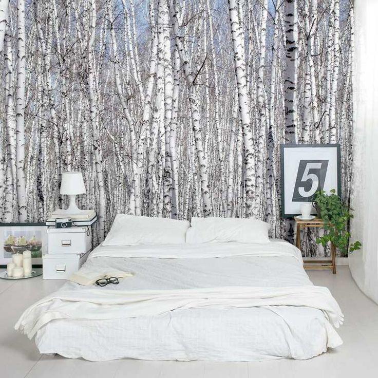 papier peint tendance : motif forêt