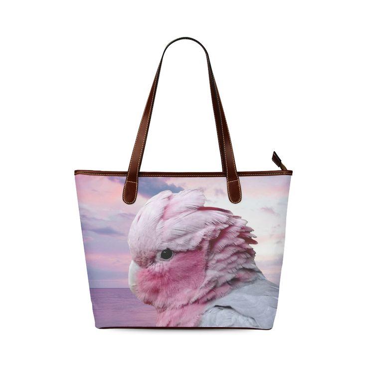 Galah Cockatoo Shoulder Tote Bag. FREE Shipping. #artsadd #bags #parrots
