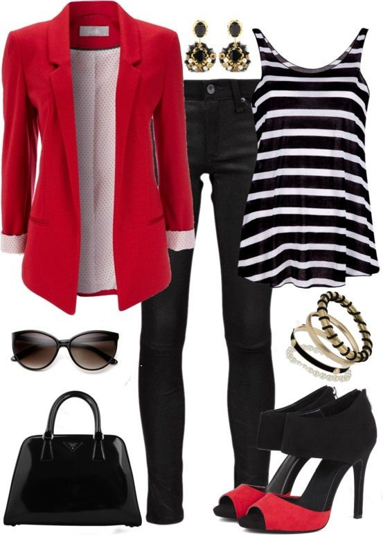 Always a Classy Look - Red & Black <3