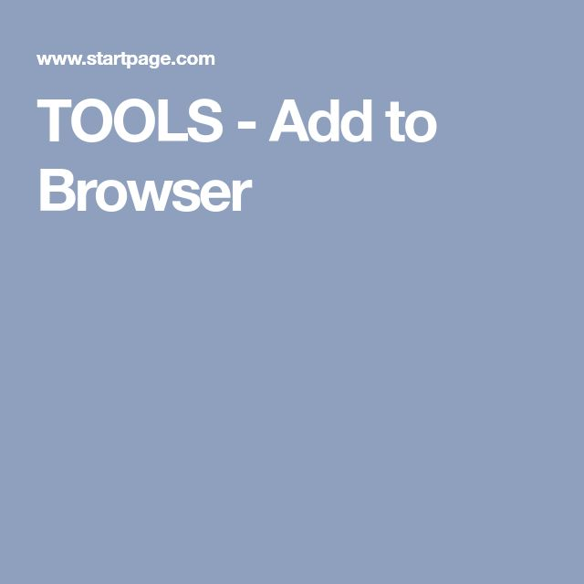TOOLS - Add to Browser