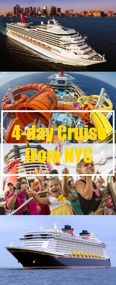4-day cruises from NYC. Short cruise to Bermuda or Canada out of New York.