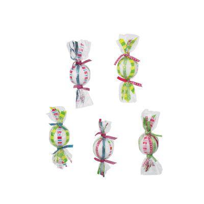 Jingle Jolly Candy Ribbon Ornaments