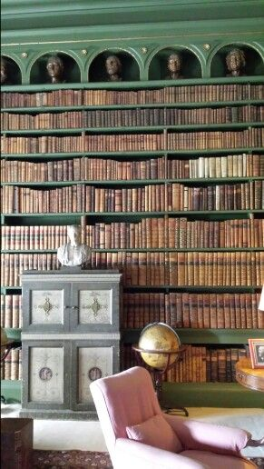 Belton House, Grantham. I wish that I could have a library like this!