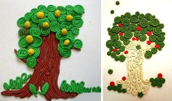 Рисование пластилиновыми жгутиками - Поделки с детьми | Деткиподелки