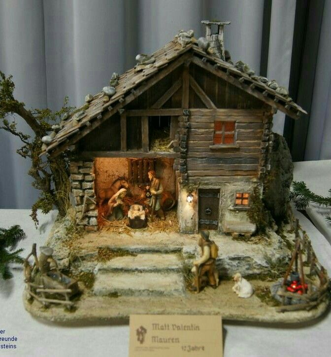 Miniature Houses Gardens Christmas Decorations Ideas Nativity Scene Villages Stable Portal