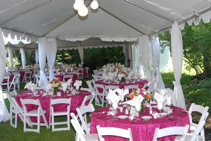 """We can help with your next event.  We have all kinds of tables and linens for rent.  We have 48"""" and 60"""" round tables, banquet tables and high boy cocktail tables for rent."""