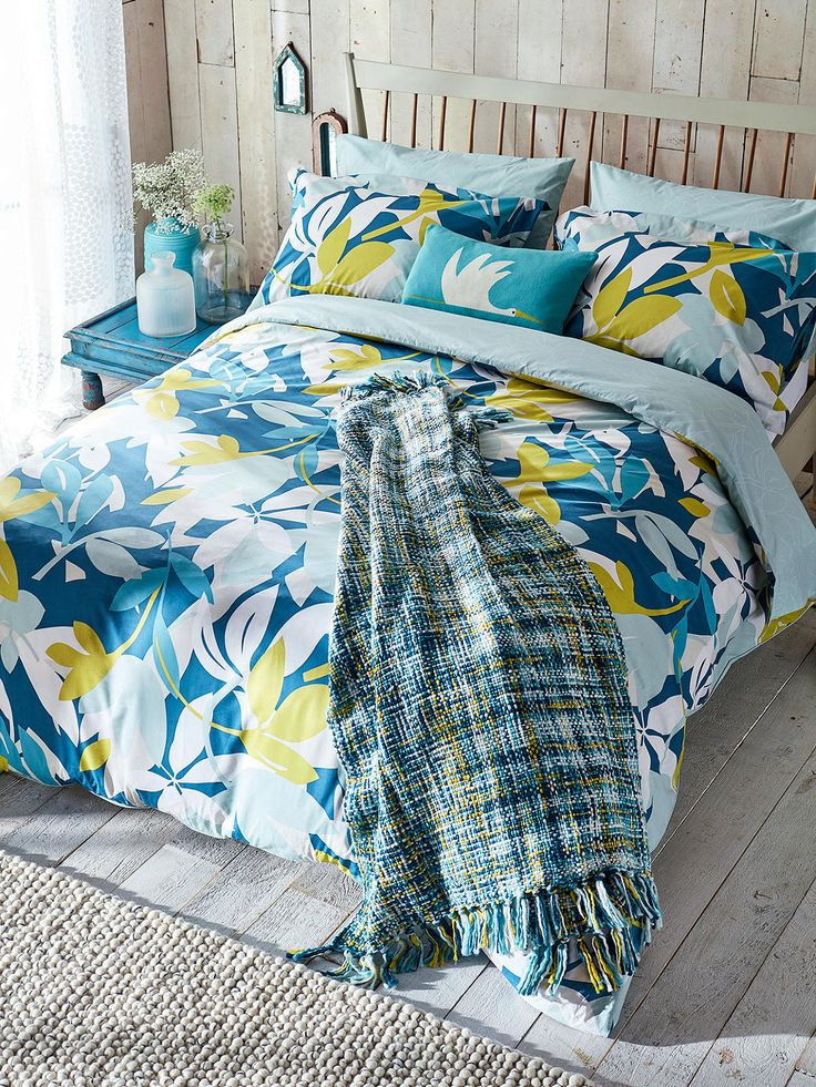 Scion Baja Bedding, Multi Duvet covers, Beige bed linen