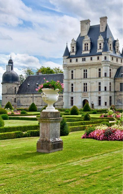 The Chateau of Chambord in the Valley of the Loire...