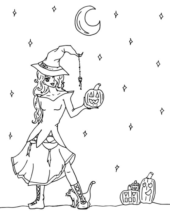 halloween colouring pagejpg - Pictures For Colouring
