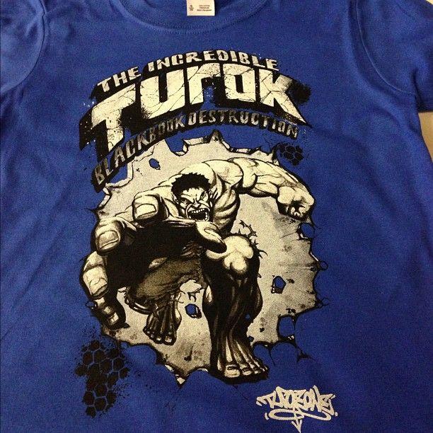 Turok duo tone screen printed t shirt