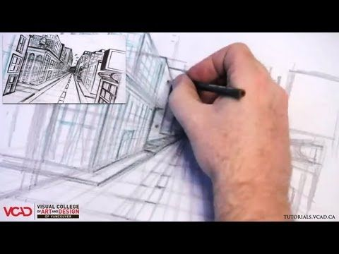 Free video tutorial on how to draw a city in One Point Perspective Part 2 of 5 Visual College of Art and Design of Vancouver  626 West Pender Street #500  Vancouver, BC V6B 1V9  (800) 356-8497    Watch full VCAD tutorial online: http://www.vcad.ca/sm-how-to-draw-a-city-in-one-point-perspective/  Subscribe to VCAD: http://youtube.com/subscription_center?add_user=VancouverVCAD  Like VCAD: http://facebook.com/VCAD.ca  #onepoint #city #drawing #tutorial #perspective