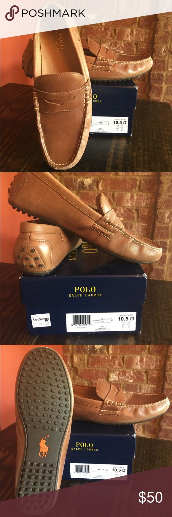 Men's Polo shoes Perfect condition! My sons fast growing foot is your gain! Worn only about 4 times and were always stored in original box. Polo by Ralph Lauren Shoes Loafers & Slip-Ons