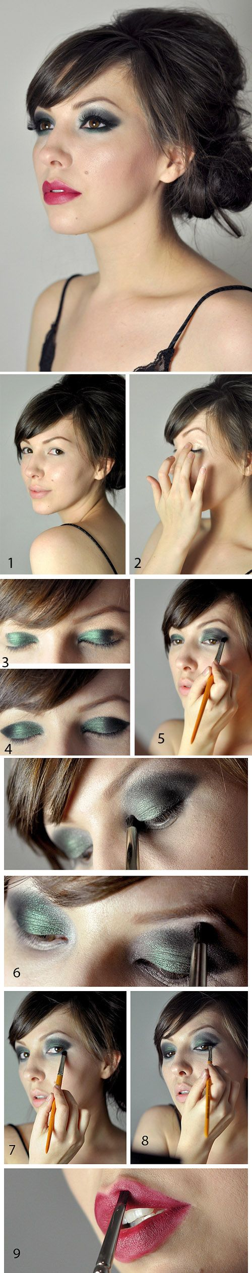 Glam Holiday Look Tutorial / 22 Beauty Tutorials For Dramatic Holiday Looks