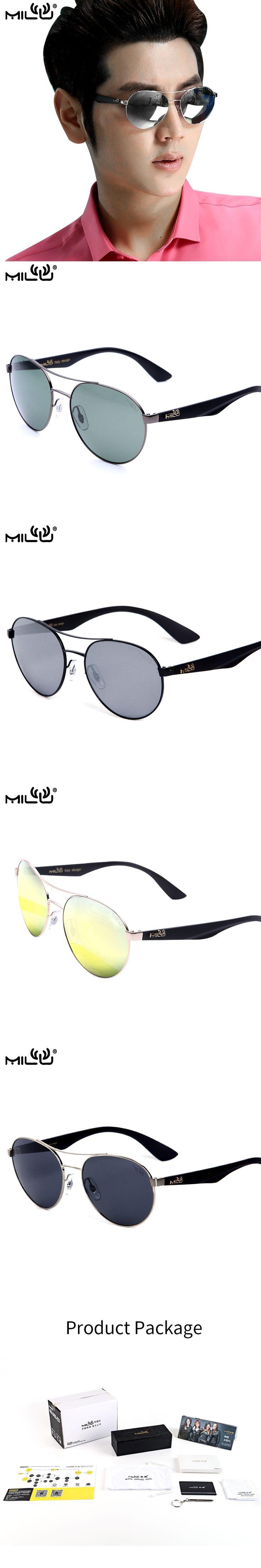 MILU Luxury Brand Logo Sunglasses For Men Polarized Outdoor Sport Fishing Aviator Sunglasses oculos de sol masculino ML3536