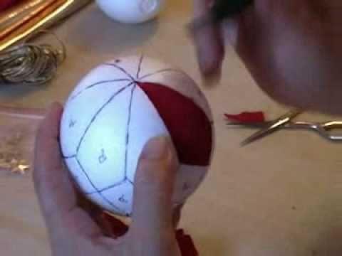 Video de com forrar boles de porex amb tela