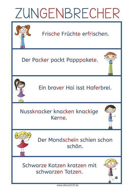 easy german tongue twister / leichte zungenbrecher für anfänger