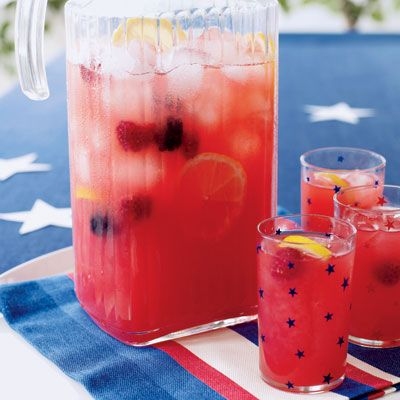 Berry Lemonade    We added sweet raspberries and blackberries to traditional lemonade to create this beverage, perfect for summer gatherings. Add muddled fresh mint for an alternate twist.