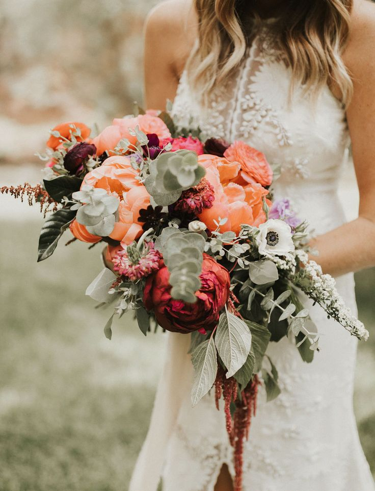 pink & coral peony bouquet...add prothea in center