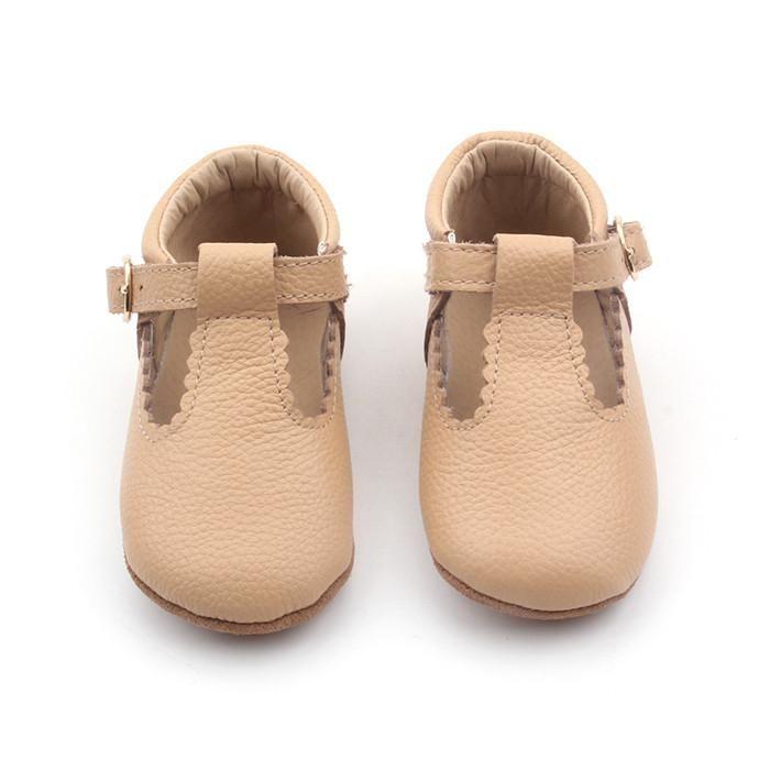 Nude leather T-Bar shoe @sadie___baby